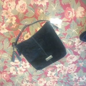 NWT Marc new york suede bag w/zipperbottom